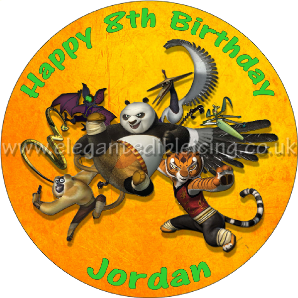 KUNG FU PANDA PARTY ROUND EDIBLE CAKE TOPPER